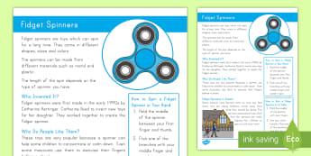 K-2 Fidget Spinners Fact Sheet -  Fidget Spinner, Fidget Spinners, fidget spinner, fidget spinners, gadgets, gadget, toys, toy, spinn