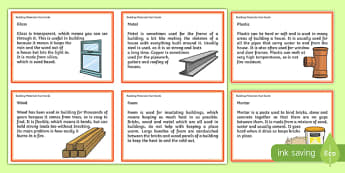 Building Materials Fact Cards