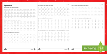 Christmas Counting Game Activity Sheet French