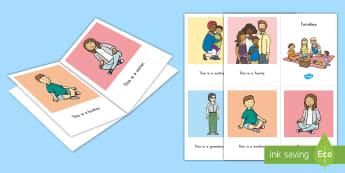 Families Emergent Reader - families, family, homes, emergent reader, pre-k literacy, kindergarten literacy