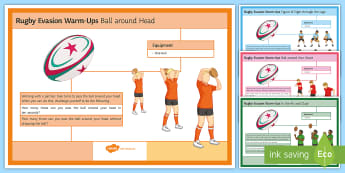 Rugby: Handling Warm-Up Cards - Rugby, KS3, warm up, handling, student cards
