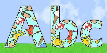 Summer Themed Display Lettering - summer, display lettering, summer display lettering, lettering, lettering for display, display, display letters