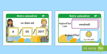 Météo du jour Calendrier d'affichage - météo du jour, météo, calendrier météo, calendrier, dates, calendrier 2017, meteo,French