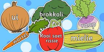 Afrikaanse Groente Woorde - groente, woordeskat
