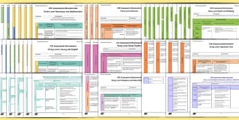 CfE Early Level Assessment Benchmarks Resource Pack - CfE Early Level Benchmarks, tracking, assessing, progression, numeracy, literacy, health and wellbei
