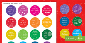 Christmas Adult Stickers - Christmas, adult, funny, stickers, end of term, xmas, wellbeing