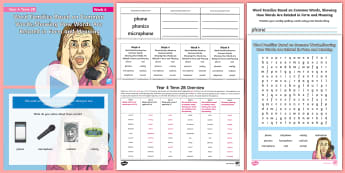 Year 4 Term 2B Week 4 Spelling Pack - Spelling Lists, Word Lists, Spring Term, List Pack, SPaG