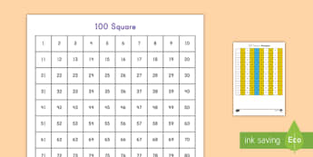 Number Square Patterns Worksheet / Activity Sheet - math, numbers, patterns, number patterns, activity, worksheet