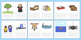Simple Sentence Writing Prompt Pictures - ESL Writing Resources