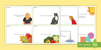 French Poetry Challenge Cards - writing, speaking, pair, group, individual, French