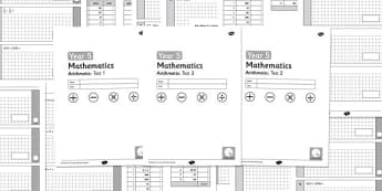 Year 5 Arithmetic Full Tests - year 5, arithmetic, full tests, tests, full