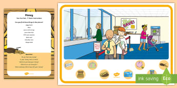 Money Can You Find...? Poster and Prompt Card Pack - money, coin, cash, purse, debit, credit, card, bank,