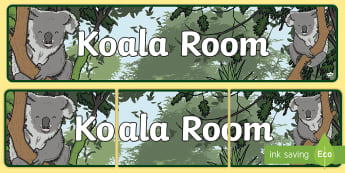 Koala Room Display Banner  - Koala Themed Classroom Display Banner - Themed banner, banner, display banner, Classroom labels, Are