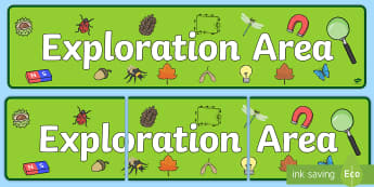 Exploration Area Display Banner - exploration area, display banner, banner, header, banner for display, display header, header display, classroom display