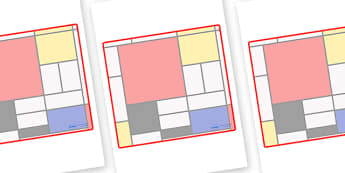 Mondrian Themed Editable Classroom Area Display Sign - Themed Classroom Area Signs, KS1, Banner, Foundation Stage Area Signs, Classroom labels, Area labels, Area Signs, Classroom Areas, Poster, Display, Areas
