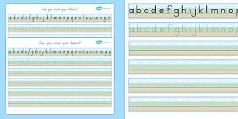 Can You Write Your Letters Worksheet (Ground, Sky, Grass) - Australia