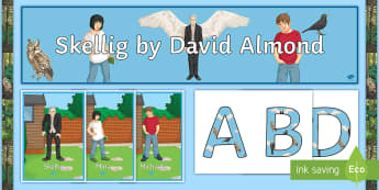 Classroom Display Pack to Support Teaching on 'Skellig' by David Almond - Skellig, David Almond, Michael, Mina, Guided Reading, Literacy, Angels, literature, novel.