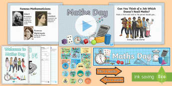 Whole School/UKS2 World Maths Day Resource Pack - world maths day, mathletics, maths challenge, real life maths, themed day, world education games