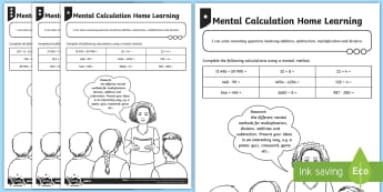 PlanIt Maths Y6 Addition, Subtraction, Multiplication and Division Mental Calculation Differentiated Home Learning Tasks - Addition, Subtraction, Multiplication and Division, mental calculation, sats practice, puzzle, game,