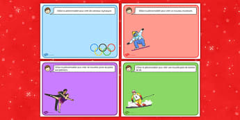 Set de pâte à modeler : Les jeux olympiques d'hiver - sport, neige, glace, compétition, international, ski, flamme, motricité fine