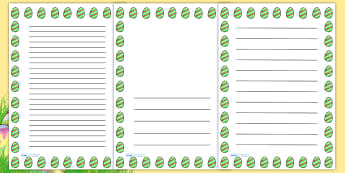 Striped Easter Egg Portrait Page Borders- Portrait Page Borders - Page border, border, writing template, writing aid, writing frame, a4 border, template, templates, landscape