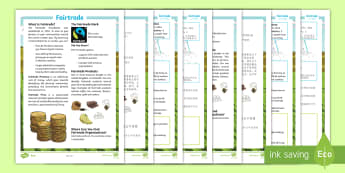 Fairtrade Differentiated Fact File English/Mandarin Chinese - KS2, comprehension, reading, reading comprehension, reading activity, fairtrade, around the world, g