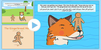 The Gingerbread Man Story Powerpoint Arabic Translation