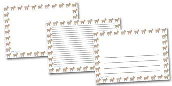 Goat Landscape Page Borders- Landscape Page Borders - Page border, border, writing template, writing aid, writing frame, a4 border, template, templates, landscape