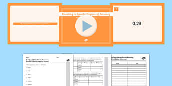 KS2 Reasoning Test Practice Rounding to Specific Degrees of Accuracy Resource Pack - Key Stage 2, Reasoning Test, Practice, Fractions, Decimals, Percentages, Year 6