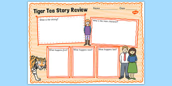 The Tiger Who Came To Tea Book Review Writing Frames - the tiger who came to tea, book review, writing frame, book review writing frame, writing template