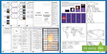 Volcanoes Lapbook - Volcano, Magma, Caldera, Eruption, Vesuvius, Pompeii