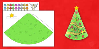 Cone Christmas Tree Decoration Resource Pack - Craft, EYFS, Christmas, christmas tree, decoration, pack