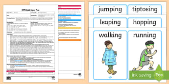 Movement Patterns Adult Input Plan and Resource Pack  - sequence, pe, pd, physical development, active, moving, movement, adult input plan, adult led, teach