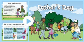 KS1 Father's Day Information PowerPoint - Celebration, June, gifts, cards, events, present, love, family