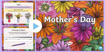 KS2 Mother's Day Art PowerPoint - KS1 & KS2 Mother's Day UK (26.3.17), art, drawing, sketching, sketch book, shading, pencil, pencil