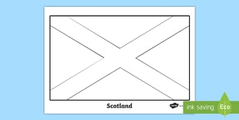 Scottish Flag Colouring Page - flag, colouring, sheet, couloring, Scottish