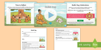 Bodhi Day Assembly Pack - Buddha, Buddhism, Enlightenment, tree, candles