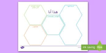 ورقة نشاط، المرحلة الأساسية الثانية  - هذا أنا  - دوامات الشخصية، الصفات والاهتمامات، الهوايات، ورقة عم