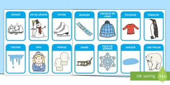 Iarna Jetoane cu imagini - iarna, haine, îmbrăcăminte, comunicare, cum ne îmbrăcăm, vocabular pe tema iernii, imagini de