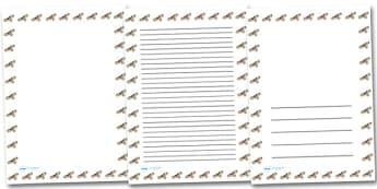 Buzzard Portrait Page Borders- Portrait Page Borders - Page border, border, writing template, writing aid, writing frame, a4 border, template, templates, landscape