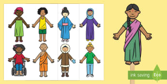 People Around the World Stick Puppets - People Around the World Stick Puppet Pack - world, people, faith, countries, multicultural, diversit