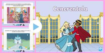 La storia di Cenerentola Presentazione PowerPoint - power, point, favola, fiaba, classica, italiano, italian, materiale, scolastico