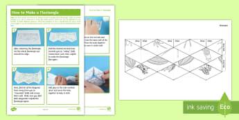 KS2 Rainforest Flextangle Paper Craft - leaves, trees, leaf, colouring, mindfulness