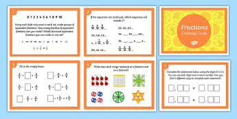 Fractions Challenge Cards