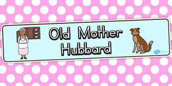 Old Mother Hubbard Display Banner - australia, display, banner