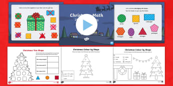 CfE Early Level Shape, Position and Movement Christmas Resource Pack - Maths, Numeracy, December, P1 Maths, P2 Maths,