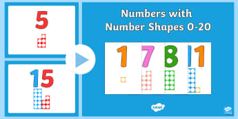 Numbers with Number Shapes 0-20 PowerPoint - Numbers With Number Shapes 0-20 PowerPoint - numbers, number shapes, 0-20, display,numbes,nubers,shp