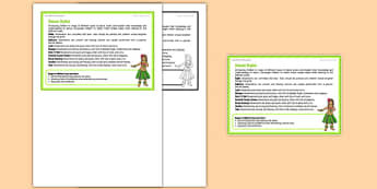 Dance Styles Teacher Support Card -EYFS, PE, Physical Development, Planning