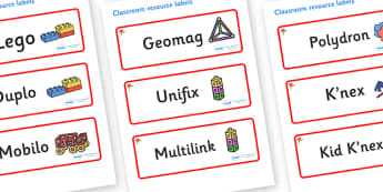 Ginko Tree Themed Editable Construction Area Resource Labels - Themed Construction resource labels, Label template, Resource Label, Name Labels, Editable Labels, Drawer Labels, KS1 Labels, Foundation Labels, Foundation Stage Labels