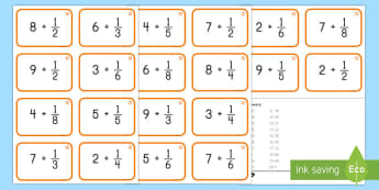 Dividing by Unit Fractions Task Cards - division, fraction, unit fractions, whole numbers, task cards, 5th grade, 5.NF.B, problems
